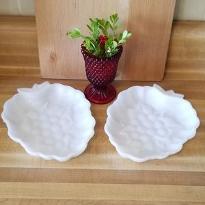 Pair of Hazel Atlas Fruit Dishes